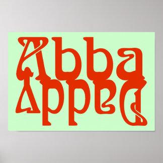 Papá de Abba (dios del padre) Posters