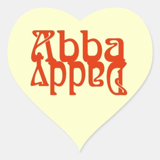 Papá de Abba (dios del padre) Pegatina En Forma De Corazón