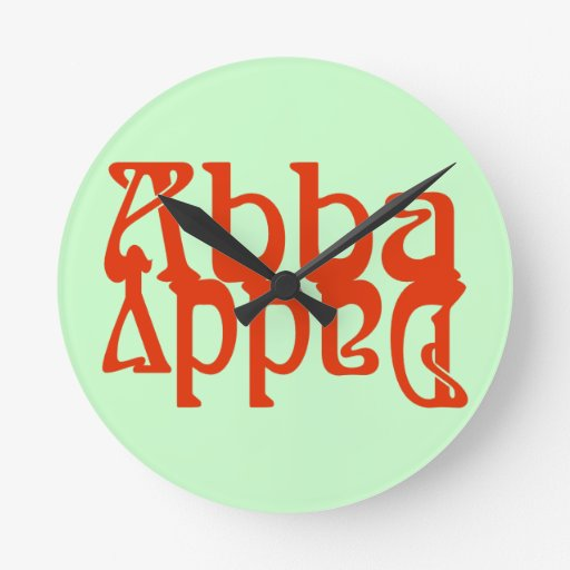 Papá de Abba (dios del padre) Reloj Redondo Mediano