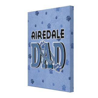 PAPÁ de Airedale Impresiones En Lona