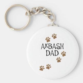 Papá de Akbash Llavero Redondo Tipo Pin