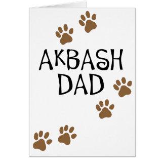 Papá de Akbash Tarjeta De Felicitación