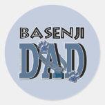 PAPÁ de Basenji Etiquetas Redondas
