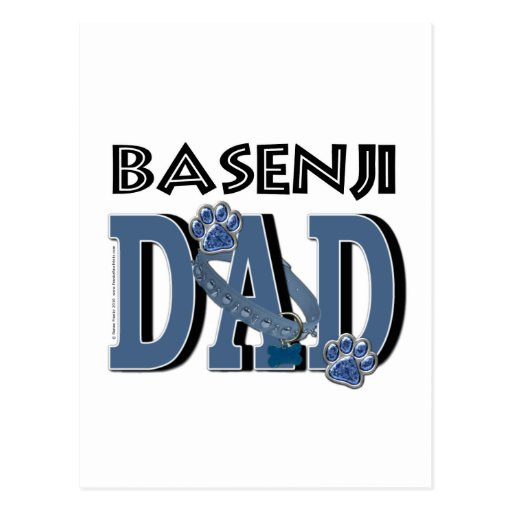 PAPÁ de Basenji Tarjeta Postal