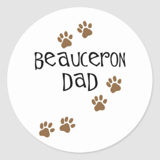 Papá de Beauceron Pegatina Redonda