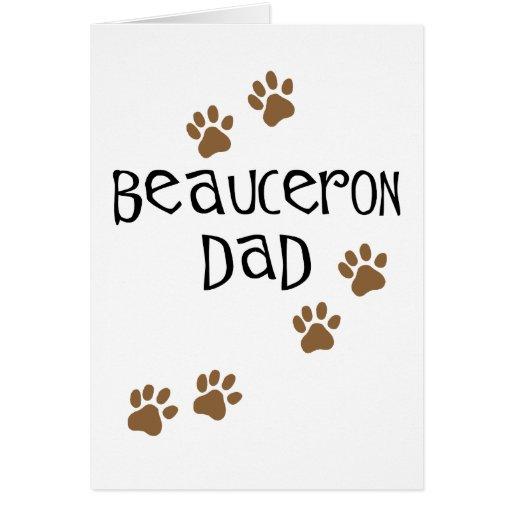 Papá de Beauceron Tarjetas