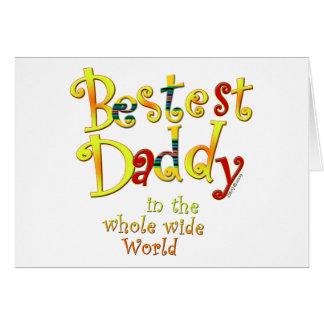 Papá de Bestest en el mundo ancho del conjunto Felicitacion