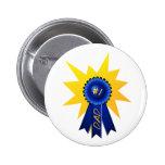 Papá de Blue Ribbon con el botón del chapoteo Pin