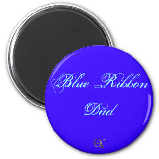 Papá de Blue Ribbon Imán Redondo 5 Cm