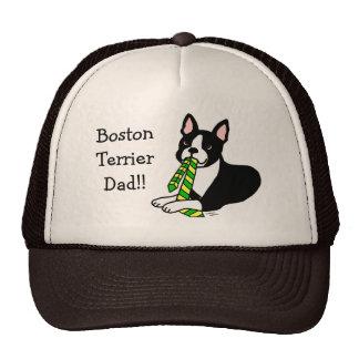 Papá de Boston Terrier con el lazo 1 Gorra