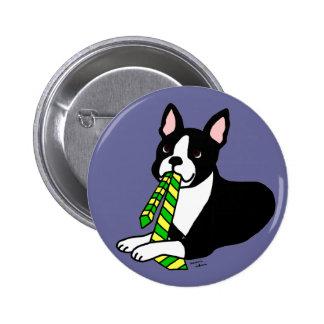 Papá de Boston Terrier con el lazo 1 Pin