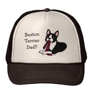 Papá de Boston Terrier con el lazo 2 Gorra
