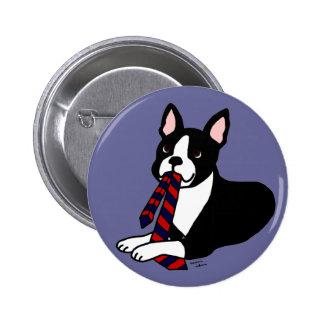 Papá de Boston Terrier con el lazo 2 Pin