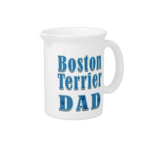Papá de Boston Terrier Jarra Para Bebida