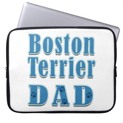 Papá de Boston Terrier Manga Computadora