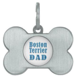 Papá de Boston Terrier Placa De Mascota