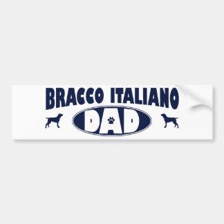 Papá de Bracco Italiano Pegatina De Parachoque