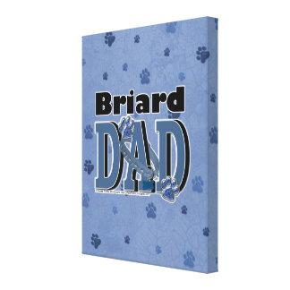 PAPÁ de Briard Impresión En Lienzo Estirada