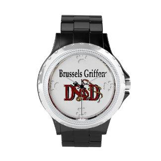 Papá de Bruselas Griffon Relojes