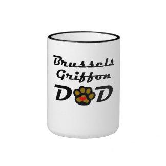 Papá de Bruselas Griffon Taza A Dos Colores