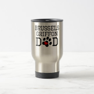 Papá de Bruselas Griffon Taza De Viaje De Acero Inoxidable