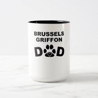 Papá de Bruselas Griffon Taza Dos Tonos