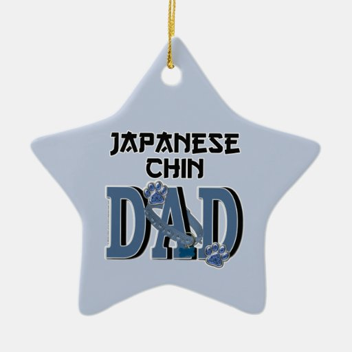 PAPÁ de Chin del japonés Adorno De Cerámica En Forma De Estrella