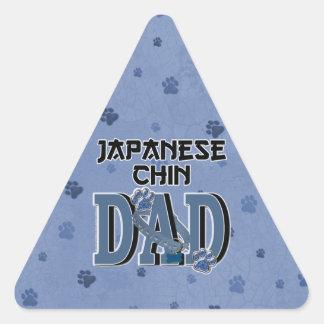 PAPÁ de Chin del japonés Pegatina Triangular