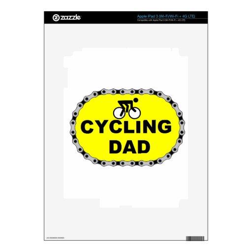 Papá de ciclo pegatina skin para iPad 3
