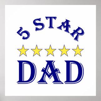 papá de cinco estrellas poster