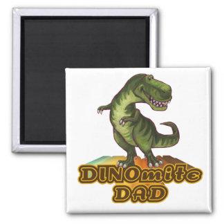 Papá de Dinomite Imán Cuadrado