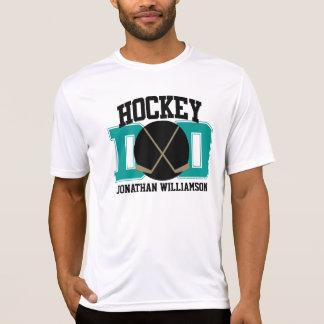 Papá de encargo del hockey camiseta