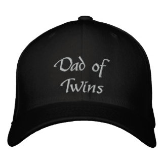 Papá de gemelos gorras bordadas