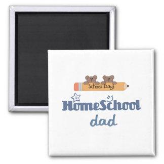 Papá de HomeSchool Imán Cuadrado