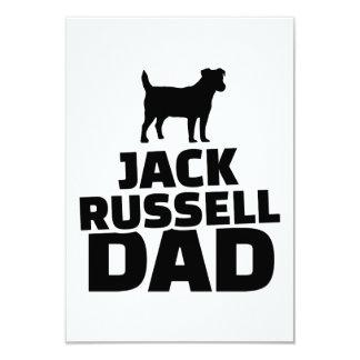 Papá de Jack Russel Invitación 8,9 X 12,7 Cm