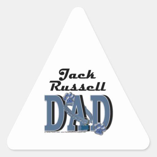 Papá de Jack Russell Pegatina Trianguladas Personalizadas