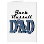 Papá de Jack Russell Tarjeta De Felicitación