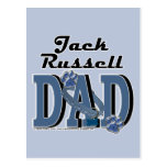 PAPÁ de Jack Russell Tarjeta Postal