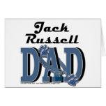 Papá de Jack Russell Tarjetas