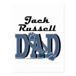 Papá de Jack Russell Tarjetas Postales