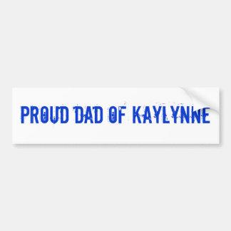 Papá de Kaylynne Etiqueta De Parachoque