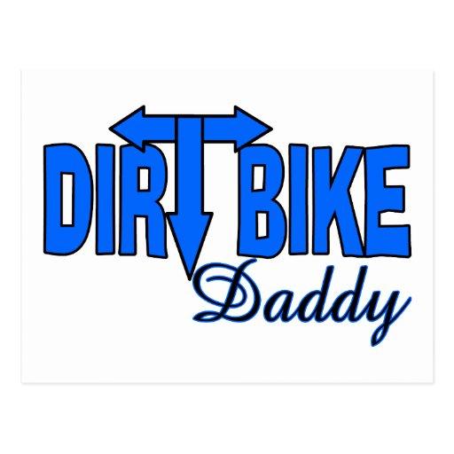 Papá de la bici de la suciedad postal