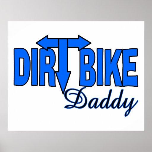 Papá de la bici de la suciedad póster