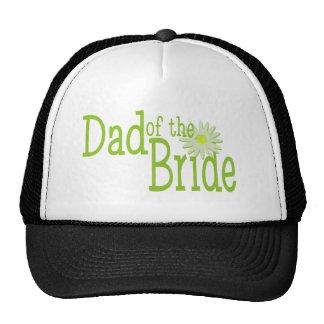 Papá de la boda de la margarita de la novia gorras
