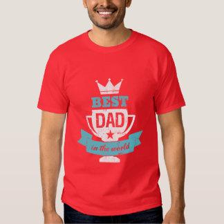 Papá de la camiseta del día de padre el mejor en playeras