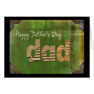 Papá de la cartulina tarjeta de felicitación