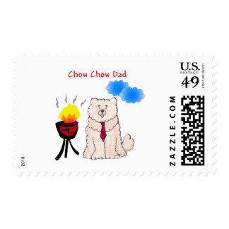 Papá de la crema del perro chino de perro chino sellos