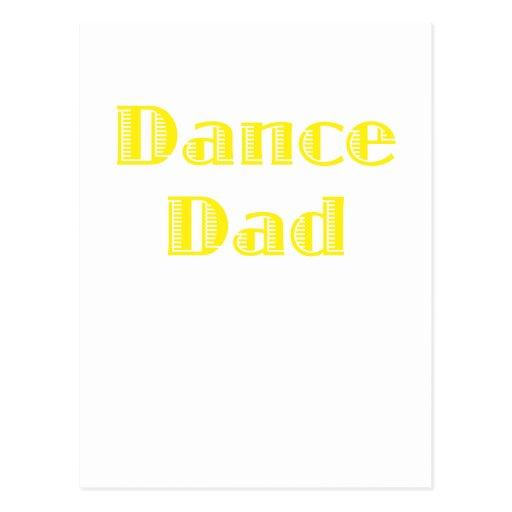 Papá de la danza tarjetas postales
