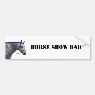 Papá de la demostración del caballo - inglés pegatina de parachoque