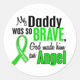 Papá de la distrofia muscular del ángel 1 etiqueta redonda